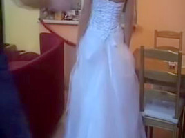 Legal Age Teenager in wedding costume fuck