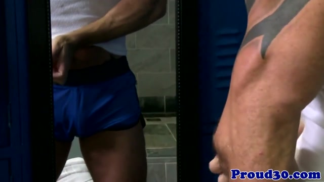 Mature lockerroom hunk vic rocco jerking cock