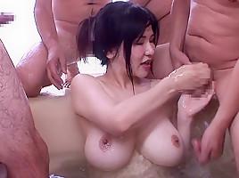 Anri Okita in Bath Time Bukkake - MilfsInJapan