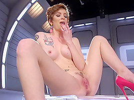 Sexy ALT Girl is Fucked Hard and Fast by Our Machines!!