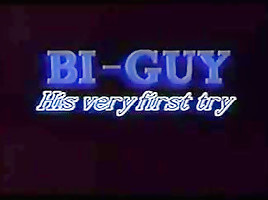 Bi guy his very first try