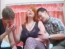 Russian MILF and two guys - 10