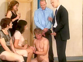 Dirty porn clip with bisexual orgy