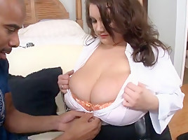 White bluse huge bbw fat tits fucked from bbc