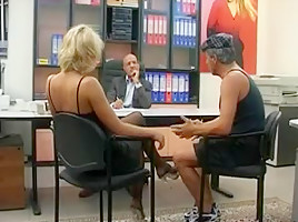 blond italian fuck with 2 males