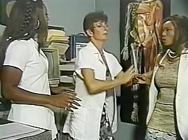 Hottest pornstars Menage Trois and Anna Amore in incredible threesomes, nurse xxx movie