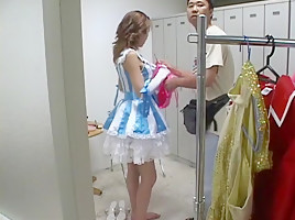 Amazing homemade shemale movie with Changing Room scenes