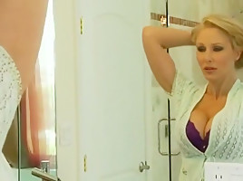 Seduction in the bathroom  sex in bed.
