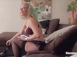 Alana Luv Masturbating Pussy With Dildo