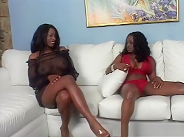 Hottest pornstars Jada Fire and Cinna Bunz in horny black and ebony, masturbation xxx clip