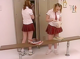 Horny pornstars Amber Peach and Cherry Poppens in amazing college, small tits sex clip