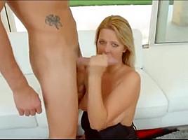 Busty blonde milf anal workout
