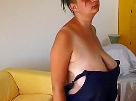Fanny has nice saggy tits