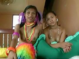 Incredible amateur Interracial, Threesomes sex movie