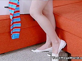 Angel in Teen Banged On The Sofa - X-Angels