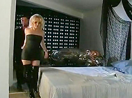 Blond Fetish Babe in Leather Boots Fucks