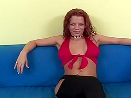 Youthful Redhead With Shaved Pussy Slammed