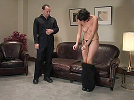 Sarah in Casting Couch 7: 19 Year Old Sarah Tied & Made To Come With A Vibrator For The First Time - HogTied