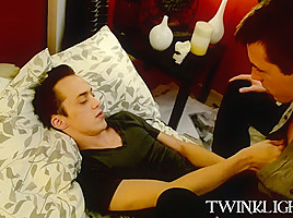 Barebacking and blowjobs with two handsom vamp twinks