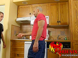 Handsome daddy Adam nailed by a horny twink Phillip Ashton