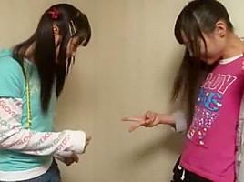 Horny Japanese whore Mina Yoshii, Mamiru Momone in Amazing Hidden Cams, Handjobs JAV clip