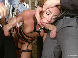 Sex Submissive Auctioned Off To The Highest Bidder - HardcoreGangbang
