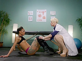 Helena Locke,Nikki Darling in Lesbian Orgasm Clinic: Hot Patient Prescribed BDSM Squirting Therapy - TheTrainingofO