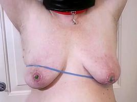 Nipple slave nipple torture with sobs