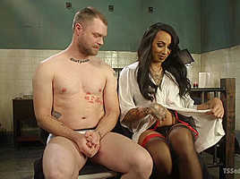 Mike Panic & Honey FoXXX in Ts Honey Foxxx Delivers Big Tits And A Huge Cock All Night Long - TSSeduction