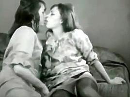 Vintage hairy lesbians black stockings