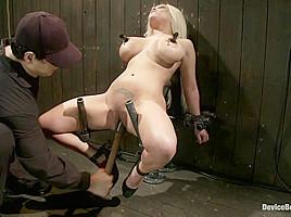 Natasha Talonz in Horror actress takes real life bondage and orgasms - DeviceBondage
