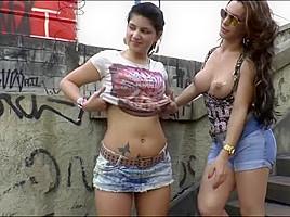Tranny hottie Angel Cortez tastes teen Britney Bitchs pink pussy