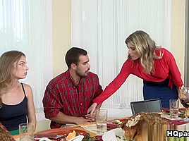 Cory Chase & Cody Lewis & Sydney Cole in Thanks for giving - MomsBangTeens
