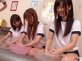 Cocomi Naruse, Sena Ayumu, Hibiki Otsuki, Aozora Konatsu in Welcome to School Soap Girls part 1.2