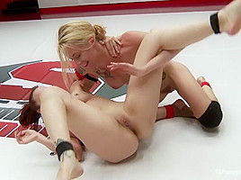 ULTIMATE SURRENDER & TSPUSSYHUNTERS DEBUT: GIRL ON TS GIRL WRESTLING!