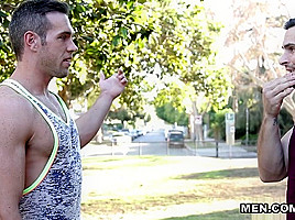 Alex Mecum & Phenix Saint  in Betting On The Straight Guy Part 2 - Str8ToGay