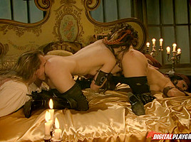 BellaDonna, Sasha Grey & Evan Stone  in Pirates 2, Scene 10
