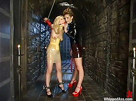 Aaralyn Barra and Kayla Paige in Whippedass Video