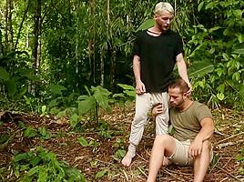 Colton Grey & Luke Adams in Tarzan : A Gay XXX Parody Part 1 - SuperGayHero