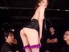 Horny Japanese whore Ameri Ichinose in Hottest gangbang, fishnet JAV clip