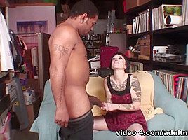 Sparky Sin Clair Loves To Drain A Huge Black Dick