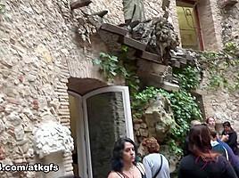 Demi Lopez in Demi Enjoys Some Museums In Barcelona - ATKGirlfriends