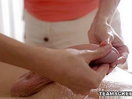 Emma in Emma Gives A Dick Massage - RubATeen