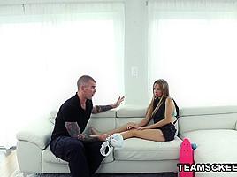 Kaylee Jewel in Tiny Teen Takes a Tumble - ExxxtraSmall