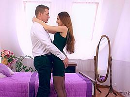 Snake dresser panties inside anal vagina girl