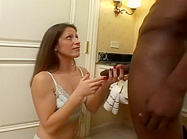 Cheating Wife Swallows Black Man's Load