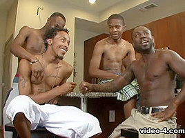 Black Lion, Kash, Kavasia, Mr. Pipe 'Em, Sean, T.Y., Thugzilla in Thug Orgy #3 scene 1 - Bromo