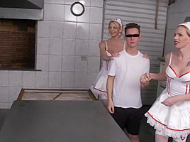 Six Insanely Hot Tranny Nurses Gangbang Patient!