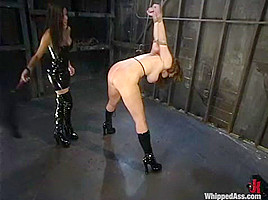 shy love and Christina Carter in Whippedass Video