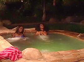 Amazing pornstars Nyomi Banxxx and Adriana Foxxx in fabulous 69, black and ebony porn clip
